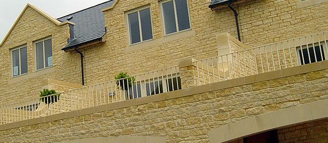 Cotswold building stone ashlar blocks from Stanleys Quarry.